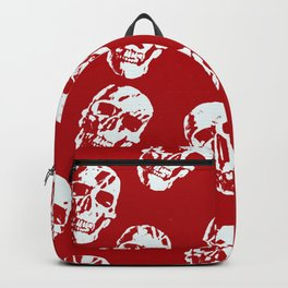 Hot Skulls, red white Backpack