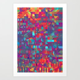 run through with the sounds Art Print
