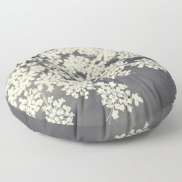 Black and White Queen Annes Lace Floor Pillow