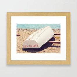 AFE Lifeguard Boat Framed Art Print