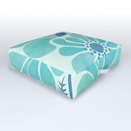 Himalayan Blue Poppies Outdoor Floor Cushion