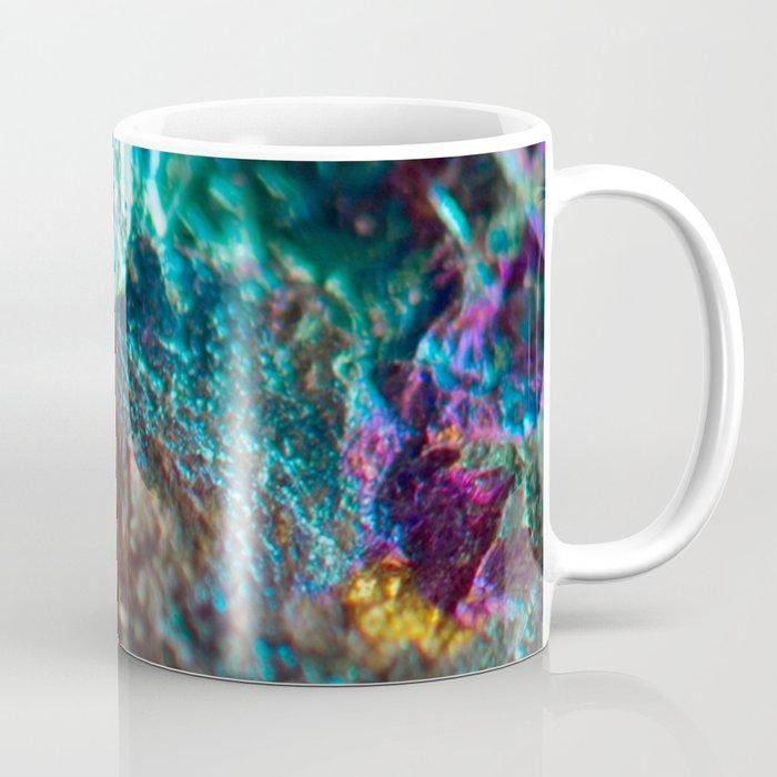 Rainbow Oil Slick Crystal Rock Coffee Mug