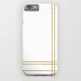 Gold Lines - 1 iPhone Case