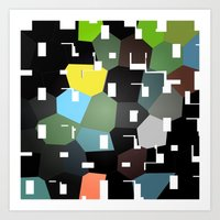 bauhaus Art Prints featuring bAUHAUS by Drama & Drachma