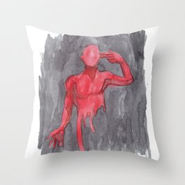 Last Man Out Throw Pillow