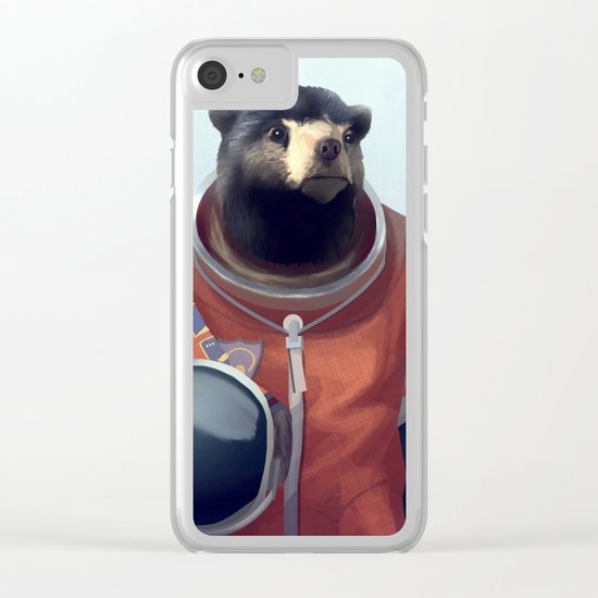 We can be heroes #astronaut Clear iPhone Case