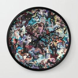Colorful Plastics Abstract Wall Clock