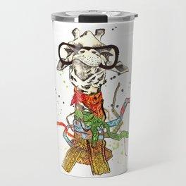 Stylish giraffe Travel Mug