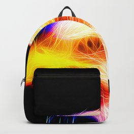 bald eagle 03 neon lines bright Backpack