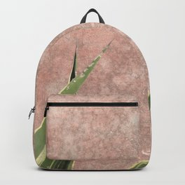 Cactus on Weathered pink wall Backpack