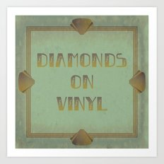 Diamonds on Vinyl Art Print