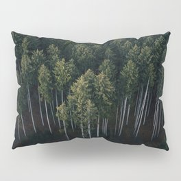 Aerial Photograph of a pine forest in Germany - Landscape Photography Pillow Sham