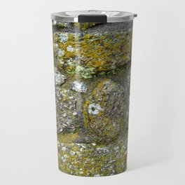 Old granite wall with grey and green colors Travel Mug