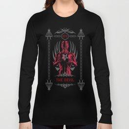 The Devil XV Tarot Card Long Sleeve T-shirt