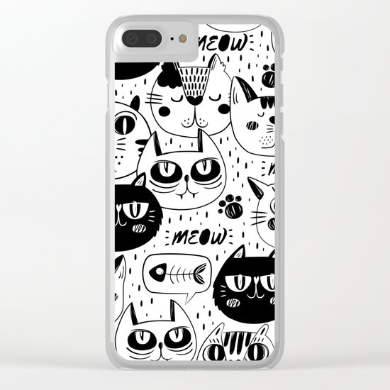 cats Clear iPhone Case