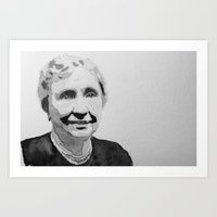 Helen Keller Watercolor Art Print