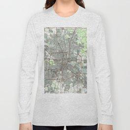 Houston Texas Map (1992) Long Sleeve T-shirt