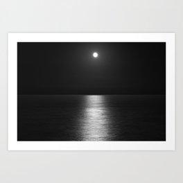 White Moon Art Print