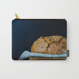 Sunflower Seeds Sourdough Bread on a Table Carry-All Pouch