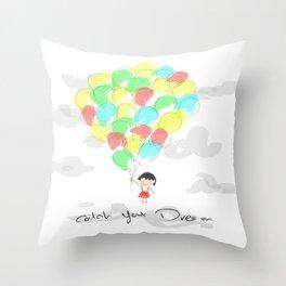 catch your dream Throw Pillow
