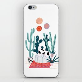 Cat and cacti iPhone Skin