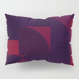 Maroon Bauhaus Pillow Sham