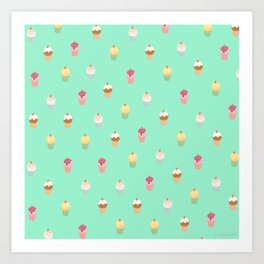 Delicious Cake Pattern Art Print