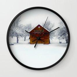 Cedar Snow Wall Clock