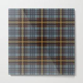 Faded Johnstone Scottish Tartan Metal Print