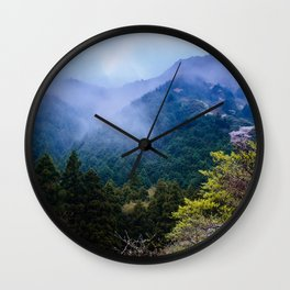 Japanese forest 2 Wall Clock