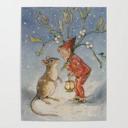 """""""The Bracken Fairy"""" by Margaret Tarrant Poster"""