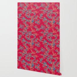 Winter Floral Pattern Wallpaper