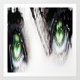 Teardrops in the rain Art Print