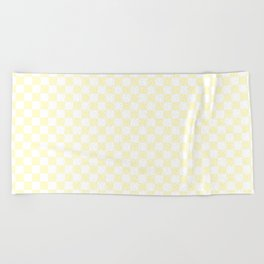 Checker (Cream/White) Beach Towel