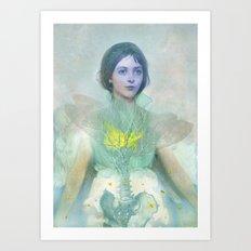 The green firefly Art Print