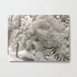 Crystal Snowflakes Metal Print