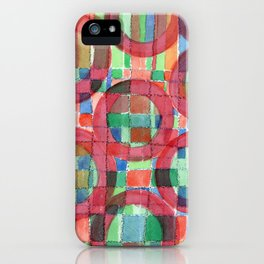 Red Magical Rings iPhone Case