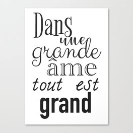 French success quote print Canvas Print