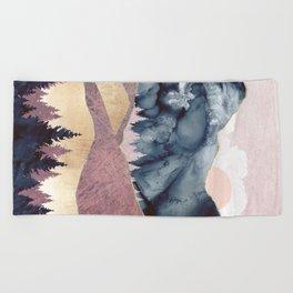 Mauve Vista Beach Towel