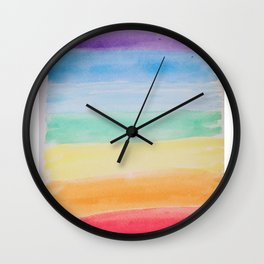 Chakra Watercolor Wall Clock