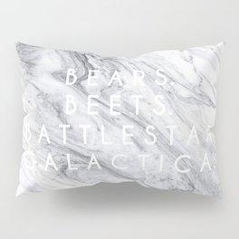 Bears Beets Battlestar Galactica (Marble) Pillow Sham