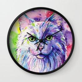 Not so white cat Wall Clock