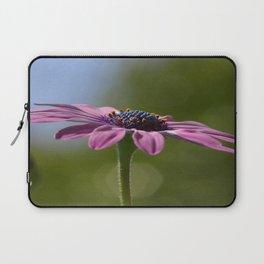 Macro Shot Of A Purple Osteospermum Laptop Sleeve