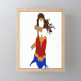 WonderWoman  Framed Mini Art Print