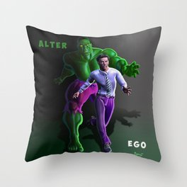 Bruce's Alter Ego Throw Pillow