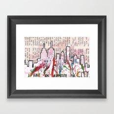 I HAVE AN APPETITE FOR CITY Framed Art Print