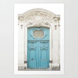 Blue Paris Door - Parisian Architecture, Travel Photography Art Print