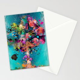 Surfing Palm Stationery Cards