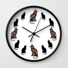 CAT TIME Wall Clock