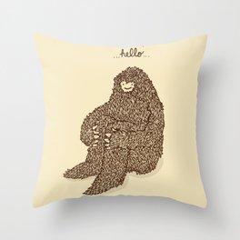 Hello they said one Throw Pillow